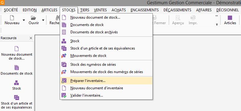 [object object] L' inventaire annuel des stocks avec le logiciel GESTIMUM Gestion Commerciale Inventaire Gestimum Image 01