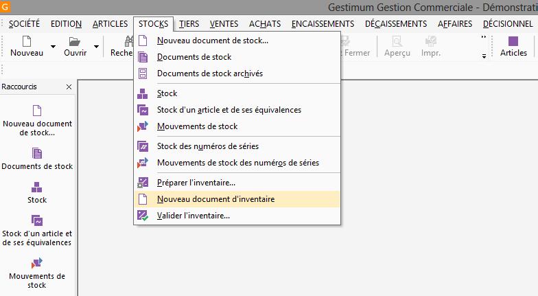 [object object] L' inventaire annuel des stocks avec le logiciel GESTIMUM Gestion Commerciale Inventaire Gestimum Image 03