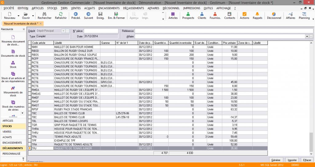 [object object] L' inventaire annuel des stocks avec le logiciel GESTIMUM Gestion Commerciale Inventaire Gestimum Image 06 1024x545