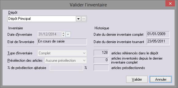 [object object] L' inventaire annuel des stocks avec le logiciel GESTIMUM Gestion Commerciale Inventaire Gestimum Image 07