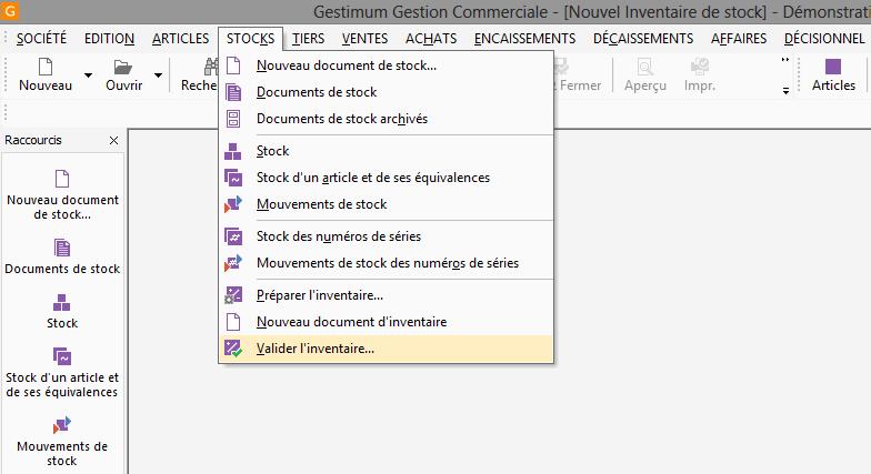 [object object] L' inventaire annuel des stocks avec le logiciel GESTIMUM Gestion Commerciale Inventaire Gestimum Image 09