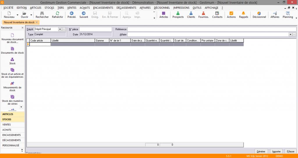 [object object] L' inventaire annuel des stocks avec le logiciel GESTIMUM Gestion Commerciale Inventaire Gestimum Image 12 1024x545
