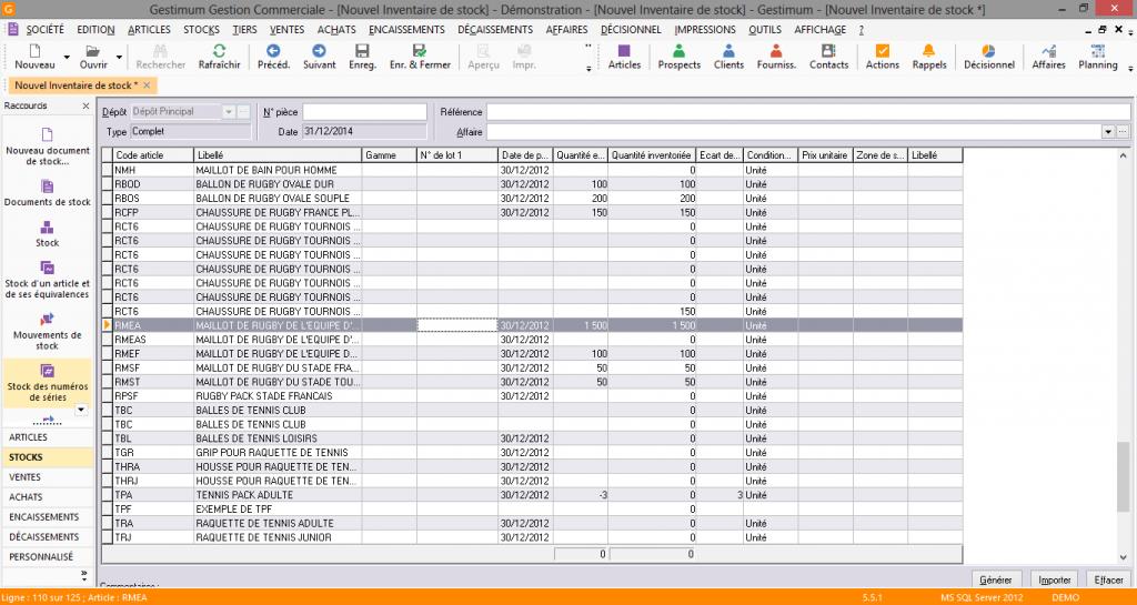 [object object] L' inventaire annuel des stocks avec le logiciel GESTIMUM Gestion Commerciale Inventaire Gestimum Image 15 1024x545
