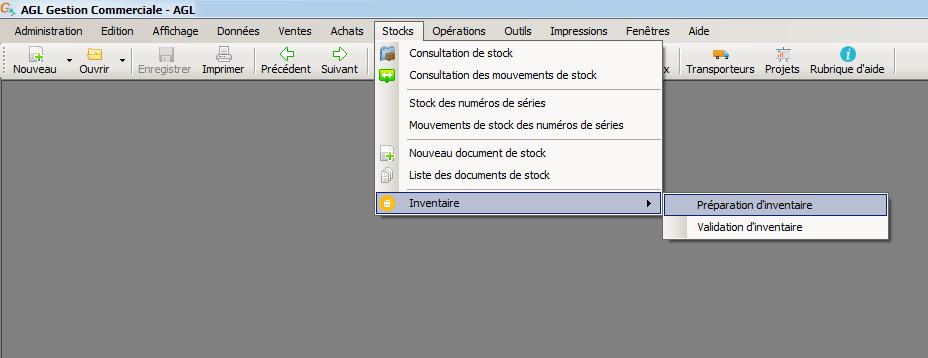 [object object] L' inventaire annuel des stocks avec le logiciel AGL Gestion Commerciale Inventaire Image 01