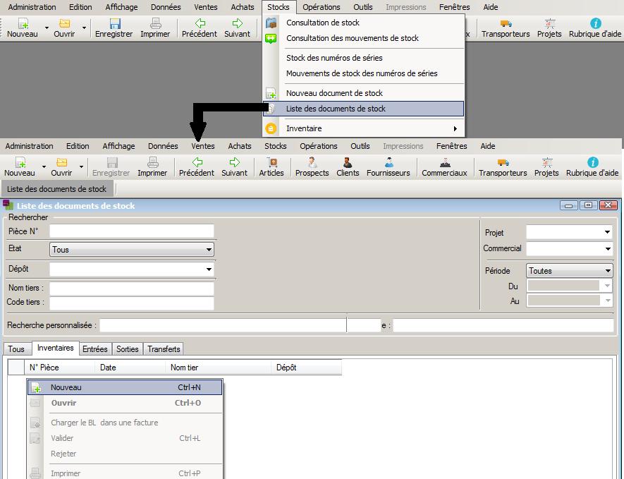 [object object] L' inventaire annuel des stocks avec le logiciel AGL Gestion Commerciale Inventaire Image 04