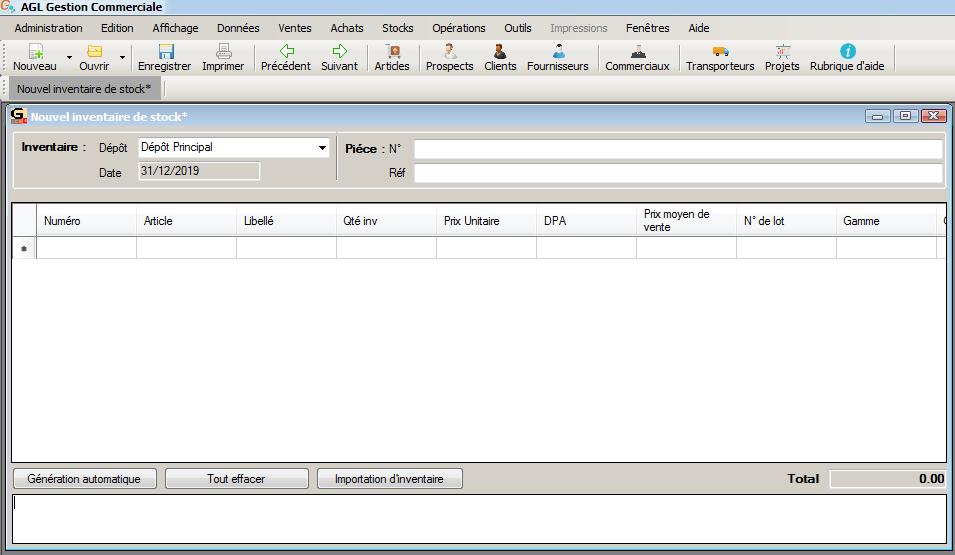 [object object] L' inventaire annuel des stocks avec le logiciel AGL Gestion Commerciale Inventaire Image 05