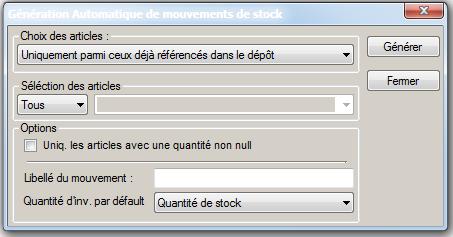 [object object] L' inventaire annuel des stocks avec le logiciel AGL Gestion Commerciale Inventaire Image 06