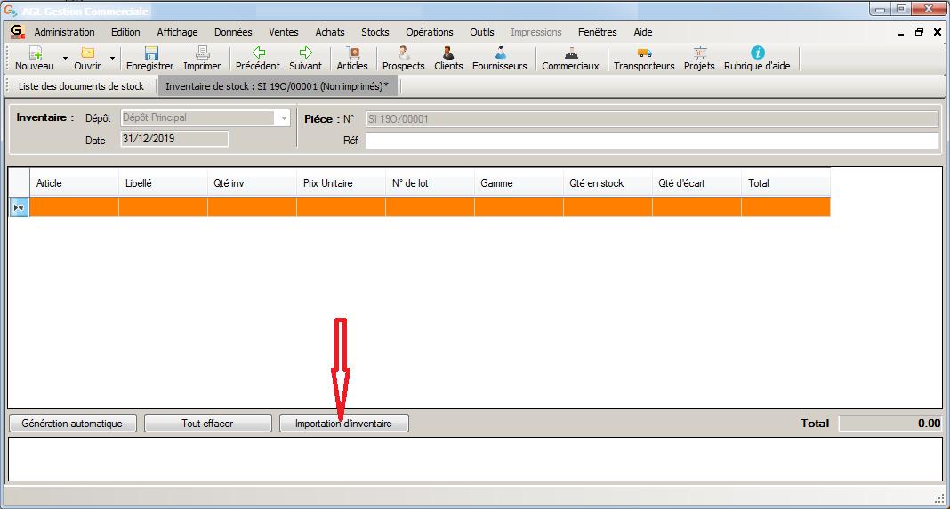 [object object] L' inventaire annuel des stocks avec le logiciel AGL Gestion Commerciale Inventaire Image 08